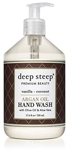 Vanilla Soap Orange - Deep Steep Argan Oil Liquid Hand Wash, 17.6 Ounce (Vanilla Coconut)
