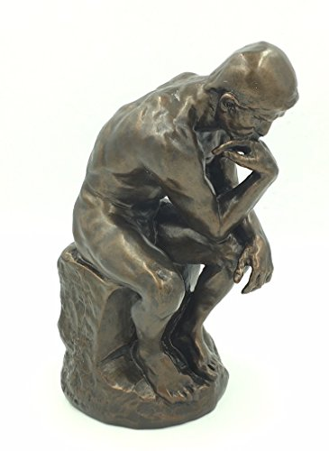 The Thinker Statue of Deep Contemplation by Rodin Large 10H Museum Replica