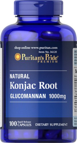 Puritan s Pride Konjac Root Glucomannan 1000 mg-100 Capsules