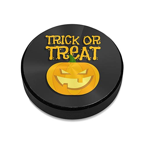 Magnetic Mount,Trick Or Treat Halloween Poster with Hand Lettering and Pumpkin Magnetic Car Mount Phone Holder Cell Phone Holder Mount Smartphone Car Mount Holder -