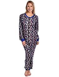 Sweet Intimates Women's Adult Onesie Hoodless Ultra Soft Printed One Piece Pajama