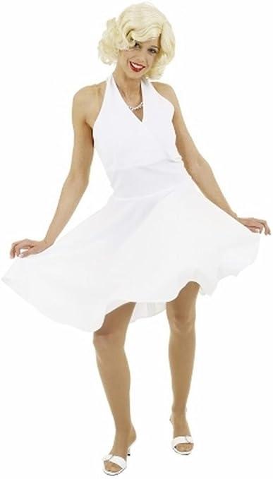 Disfraz de fiesta de mujer - vestido de Marilyn color blanco - 36 ...