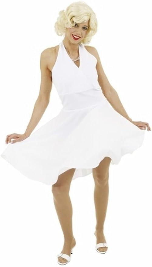Disfraz de fiesta de mujer - vestido de Marilyn color blanco - 40 ...