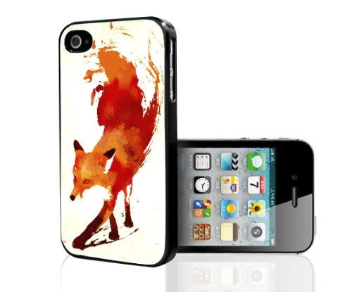 Artistic Water Color Fox Hard Snap on Phone Case (iPhone 4/4s)