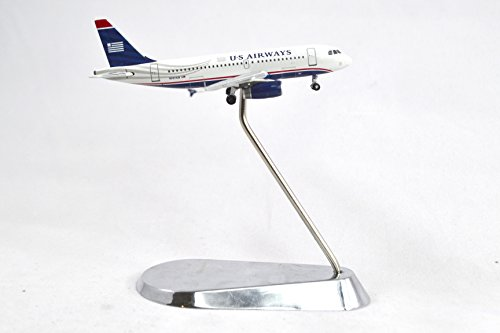 Airbus A319 Us Airways - GeminiJets US Airways Airbus A319 Diecast Airplane Model N801AW With Stand 1:400 Scale Part# GJUSA1397