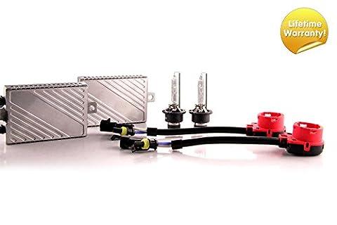 DDM Tuning Plus 55W Preimum HID Kit, Slim AC Ballasts w / Hi-Output Bulbs, D2S, 6500K (D2s Corolla)