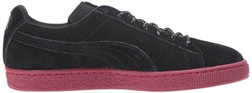 Sneaker Classica In Pelle Scamosciata Da Uomo Puma Nero-tibetano Rosso
