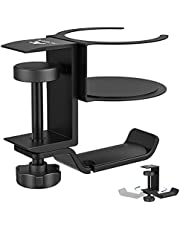 $29 » ACGAM Headphone Stand, 2 in 1 PC Gaming Headset Stand Cup Holder, with Cable Organizer, 360° Adjustable & Rotating Arm Clamp Headphone Holder, Suitable for Most Headphones and Drinks, Desk Organizer