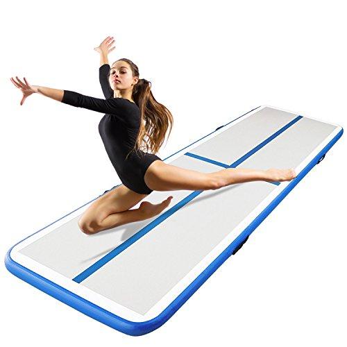 Hans & Alice H&A 9.9' x 3.3' Inflatable Gymnastic Tumbling Mat Anti-skid Air Track Floor Mattress (118