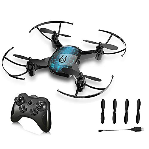Mini Quadcopter Drone, 2.4GHz 6-Axis 4CH RC Drone Remote Control Toy Altitude Hold Function Headless Mode One Key Return Easy Operation for Beginners