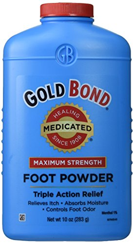 - Gold Bond Medicated Foot Powder - 10 Oz (Pack of 2)