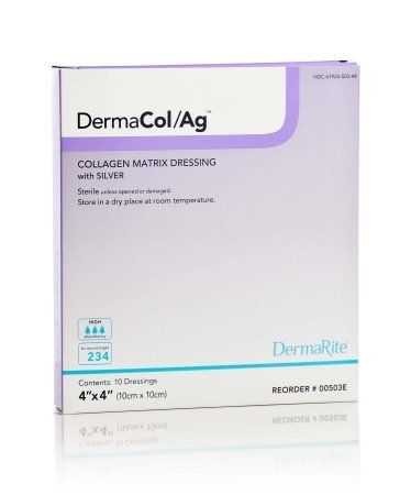 DERMARITE INDUSTRIES Dermacol/Ag™ Collagen Matrix Dressing with Silve Model: 00503E by Dermarite Industries (Image #1)