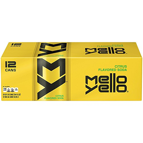 Mello Yello Soda Citrus, 12oz Can (Pack of 12, Total of 144 Oz)