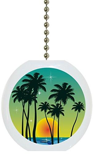 tropical-sunset-ocean-solid-ceramic-fan-pull