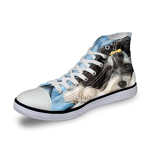 Cat Pet Canvas Trainers Cute Women Dog Prints 2 Top dog Nopersonality High xXqt5w8Xn