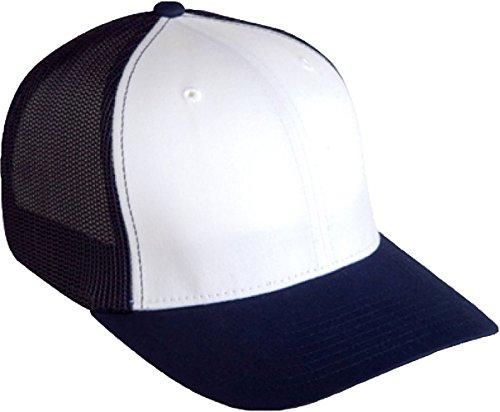 Yupoong 6511 Flexfit 6-Panel Trucker Cap - Royal/White - One Size