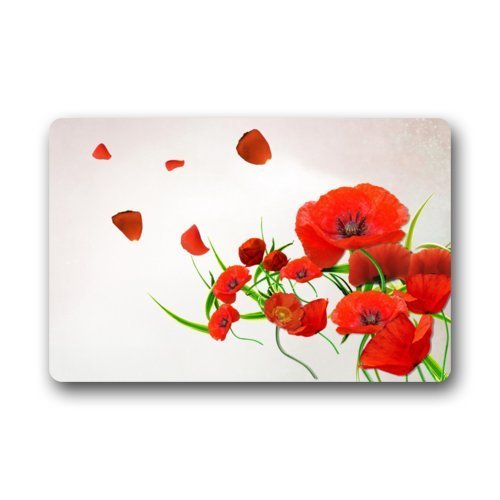 Hey Poppy - Poppy Flowers Decor Printed Coir Doormat Door mat