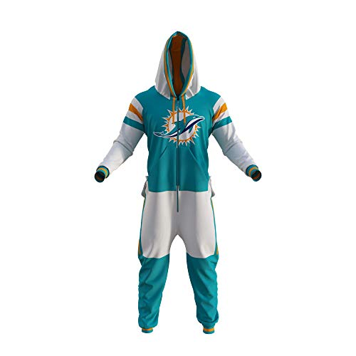 Miami Dolphins NFL Adult Onesie (Medium) Blue