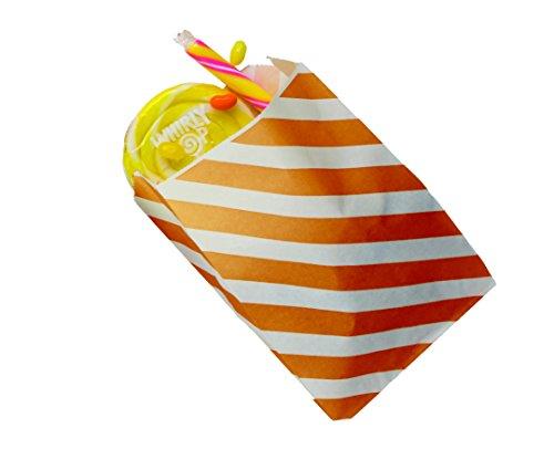 Party Partners Design 12 Count Halloween Paper Favor Bags, Orange Stripe (Halloween Party Designs)