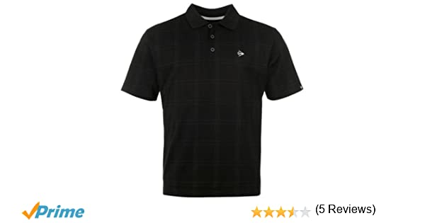 Dunlop Golf Tour Polo para Hombre Check