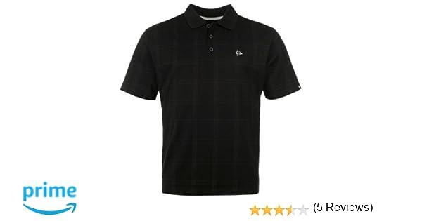 Dunlop Golf Tour Polo para Hombre Check