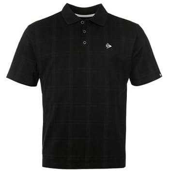 Dunlop Golf Tour Herren Polo-Shirt kariert, schwarz, Gr. S