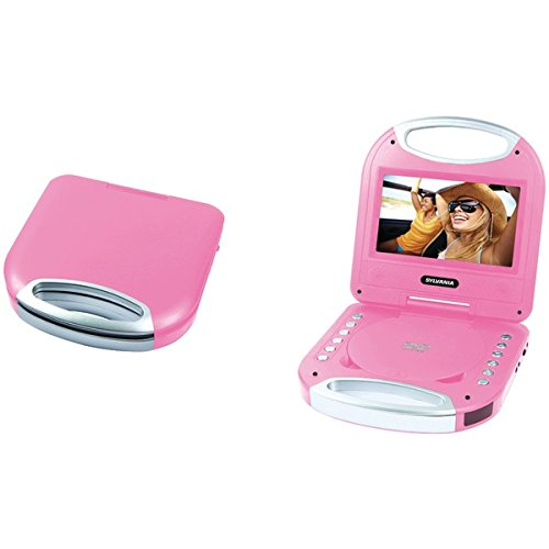 """SYLVANIA SDVD7049-PINK 7"""" Portable DVD Player with Integrate"""
