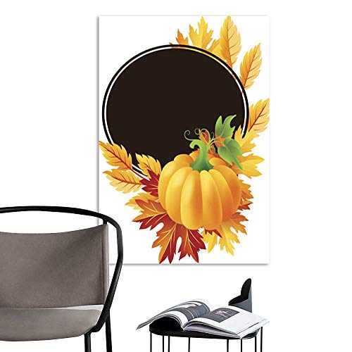 aintingAutumn Pumpkin with Fall Maple Tree Leaves Frame.jpg Home Decoration Home Office Wall Print On 16