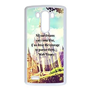 Disney castle LG G3 Cell Phone Case White&Phone Accessory STC_142206