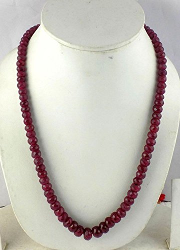 18Inch 1 Strand Natural Ruby Faceted Rondelle 6-10mm Beads (Jewel Bead Necklace)
