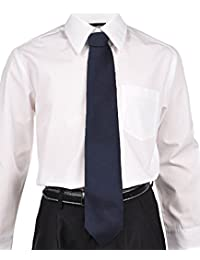 Cookie's Brand Adjustable Banded Necktie with Clip - navy, 12""