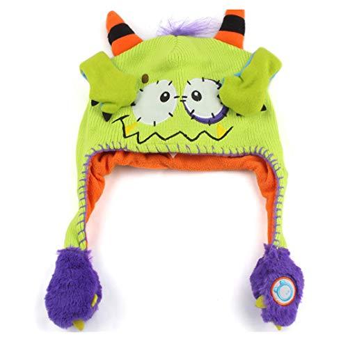 kaiCran Flipeez Hat -Boys Girls Monster Action Hat Children Winter Warm Hat Cap - Monster Little Knit Hat