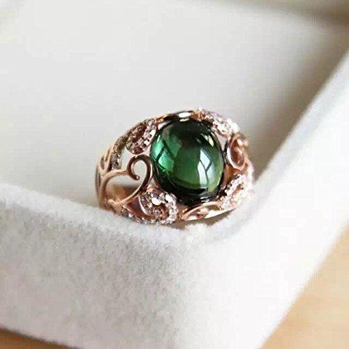 (4.41 Carat Tourmaline Engagement Ring In 14K Rose Gold)