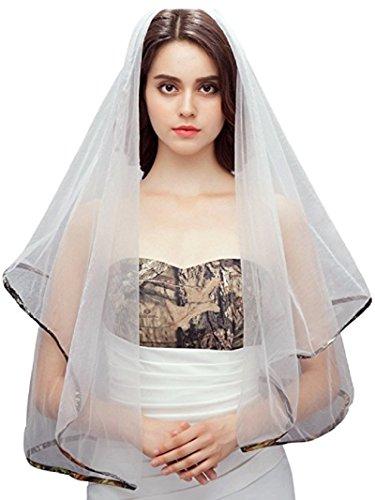 iLovewedding White Camo Veils for Wedding Dresses Bridal Gowns (Camo One Size)