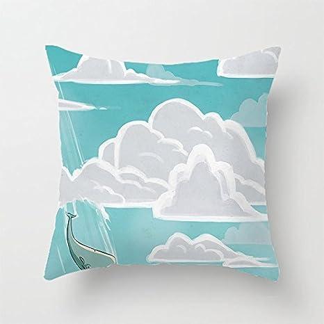 yinggouen ballena y nube decorar para un sofá funda de ...