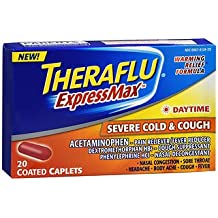 Theraflu ExpressMax Daytime Severe Cold & Cough Coated Caplets - 20 ct, Pack of 2
