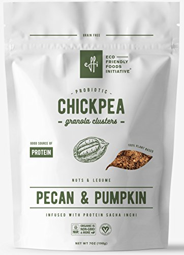 UPC 850314005044, Probiotic Chickpea Granola Clusters, Organic Grain Free Granola + Prebiotics, Breakfast Snack, Nuts & Seeds, Plant Based Protein + Fiber, Gluten Free, Pumpkin & Pecan, 7 oz pouch (2-pack)