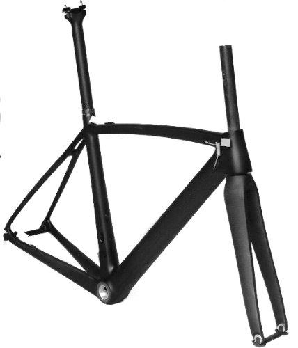 フルカーボン 3K マット 700c ロードバイク 自転車 BSAフレーム フォーク シートポスト 50cm   B00G1K4KU4