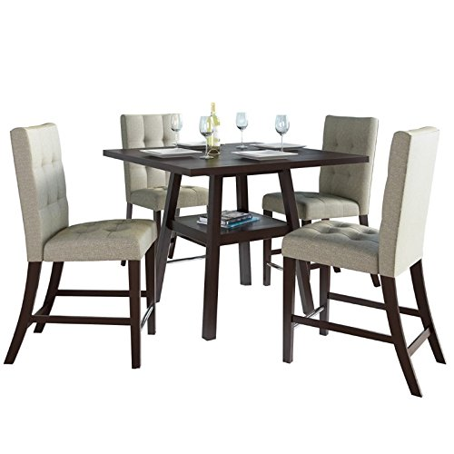SONAX CorLiving Bistro 5 Piece Counter Height Dining Set ...