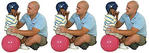 Gymnic Physio Balance Therapy Ball, 12 Inch, Pink, Holds 300 Pounds (Thrее Расk) by Gymnic
