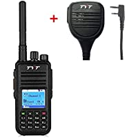 TYT Tytera MD380 DMR Digital Two Way Radio 400-480MHz with Speaker Microphone and Programming Cable, 2 Antennas