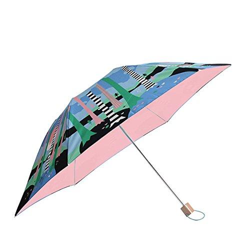 コルコ クイック オープン 折りたたみ傘 全8柄 手開き 日傘/晴雨兼用 ナイトフォレスト 6本骨 50cm UVカット 軽量 コンパクト傘 81076 B01CQHRYH6
