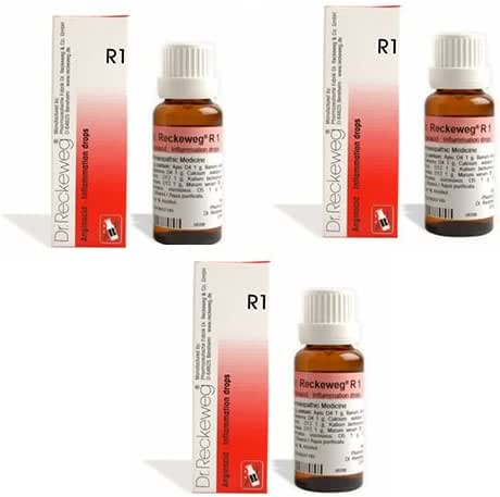 3 Lots X Dr.Reckeweg R1 Homeopathic Remedy Drops - 22 ML