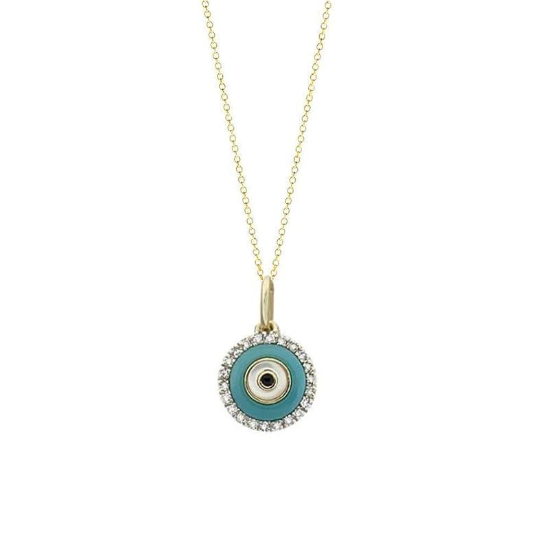 Pave Evil Eye Silver Pendant