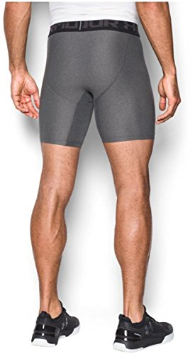 Under Armour Men's HeatGear Armour 2.0 Mid Shorts, Carbon Heather (090)/Black, X-Small by Under Armour (Image #5)