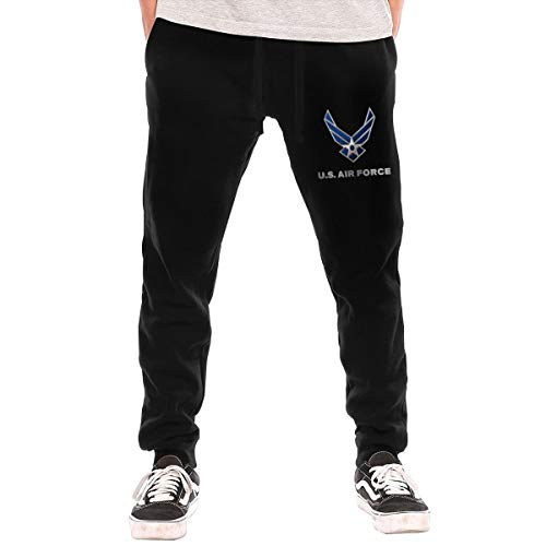 NEST-Homer Men's Sweatpants US Air Force Athletic Jogger Long Pants Black