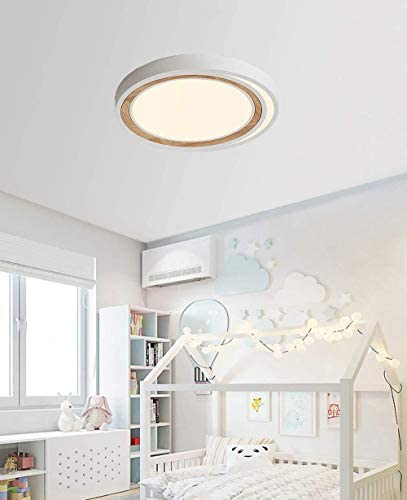 36W Modern LED Ceiling Lamp White Ceiling Light Bedroom Dimmable with Remote Control Indoor Lighting Luminaire Decoration Children Room 62 * 5CM