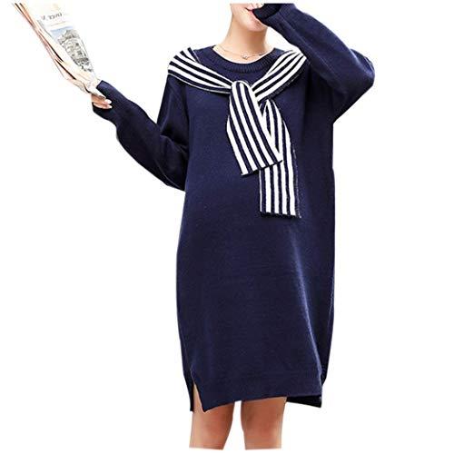 new Gestrickte Schwangere Winter Kleid Mutterschaft