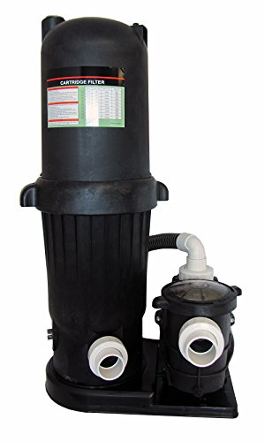 Deluxe In-Ground Swimming Pool 120SF Cartridge Filter System 2 Speed Pump 1HP - Filtration 12 Amp