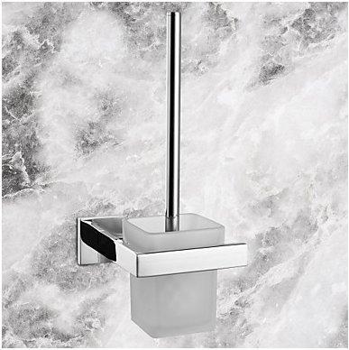 WEIYU Toilet Brush Holder Contemporary Stainless Steel Ceramic 1 Pc - Hotel Bath